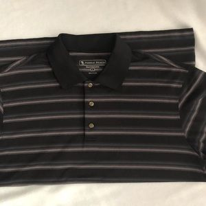 Grand Slam Men's XLT Black Striped Golf Polo